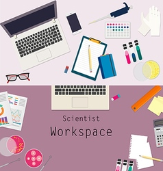 Scientist workspace vector