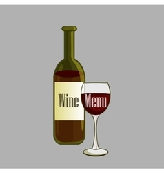 Hand drawn Wine label vector image