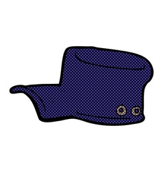 Comic cartoon uniform hat vector