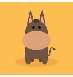 Cute cartoon donkey vector