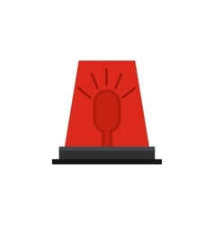 Siren red flashing emergency light icon vector
