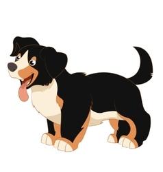 Cartoon happy dog vector image