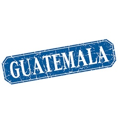 Guatemala blue square grunge retro style sign vector