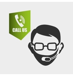Call center design customer service icon vector