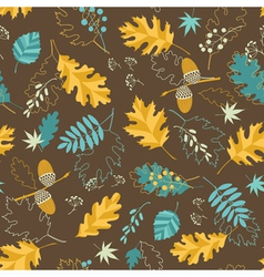Brown fall pattern vector
