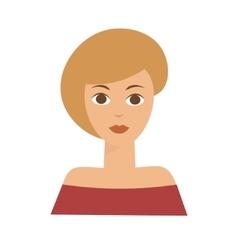 American blonde woman flat vector