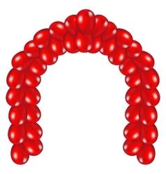 Arch of red balloons vector image vector image