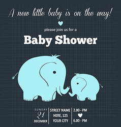 baby boy shower card vector image