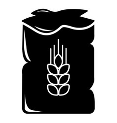 bag wheat icon simple style vector image