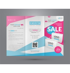 Booklet template for sale event vector