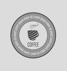 Cafe coffee logo vector