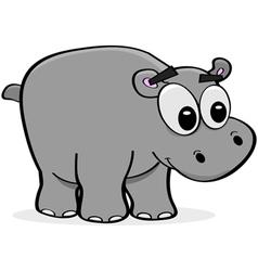 Cartoon hippo vector