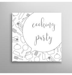 Cooking party invitation Culinary school vector image vector image