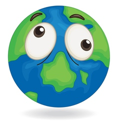 earth globe face vector image vector image
