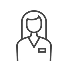 Employee line icon vector