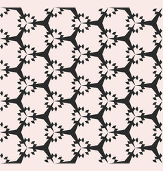 geometric seamless pattern subtle floral texture vector image vector image