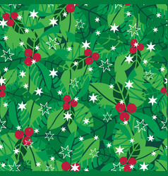 green red white holly berries and vector image