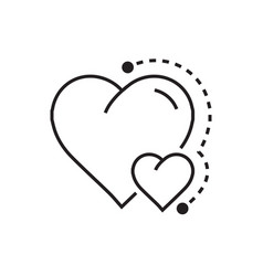 Heart mini icon dots style vector