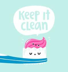 Keep it clean vector