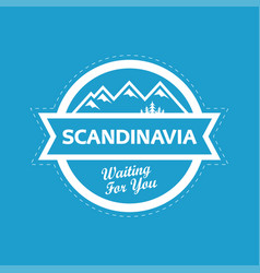 Landscape of scandinavia nature vector