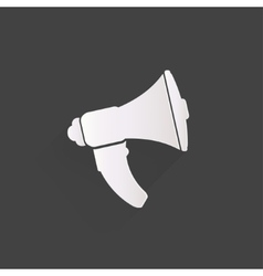 Loudspeaker icon Microphone symbol vector image vector image