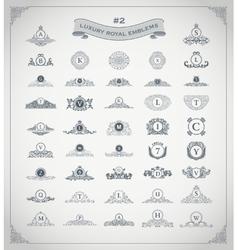 Luxury royal logo set crest emblem heraldic vector