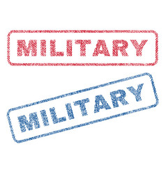 Military textile stamps vector