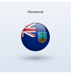Montserrat round flag vector