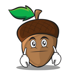 Neutral acorn cartoon character style vector
