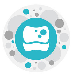 of cleaning symbol on sponge vector image vector image