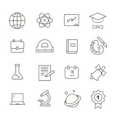 School Education Icons vector image vector image