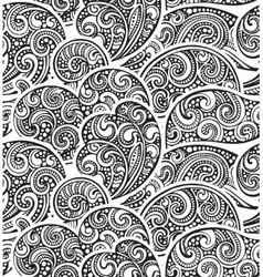 Seamless pattern with hand drawn doodle sea waves vector image vector image
