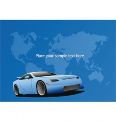 sportscar poster vector image vector image