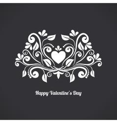 Valentine Blackboard Heart vector image vector image