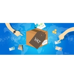 VAT Value Added Taxes concept vector image