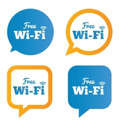 Wifi speech bubbles free wifi symbols wireless vector