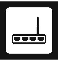 Modem icon simple style vector