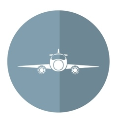 Jet airplane private transport front view gray vector