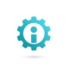 Letter i technology logo icon design template vector