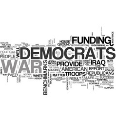 Why democrats should fund the war text word cloud vector