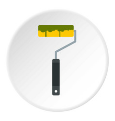 paint roller icon circle vector image