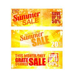 Summer sale banners set eps 10 vector