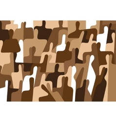 Abstract people background vector
