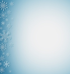 Snowflakes on the left side vector