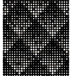Halftone rhombus tiles silver metal colors vector