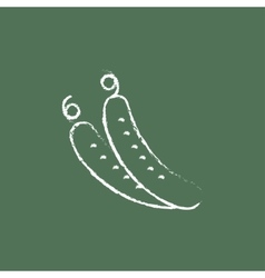 Cucumber icon drawn in chalk vector