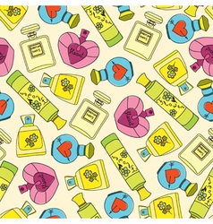Perfume seamless pattern vector