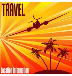 tropical travel vector image