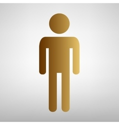 Man sign flat style icon vector