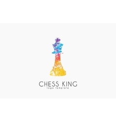 Chess king logo chess logo king logo creative vector